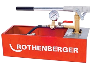 Rothenberger Köşeli Tip Test Pompası-50 Bar