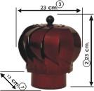 Minik C Modeli Esmatik Baca Aspratörü